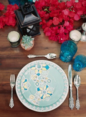 Mexicana Drama Inspired Rustic Wedding Place Setting