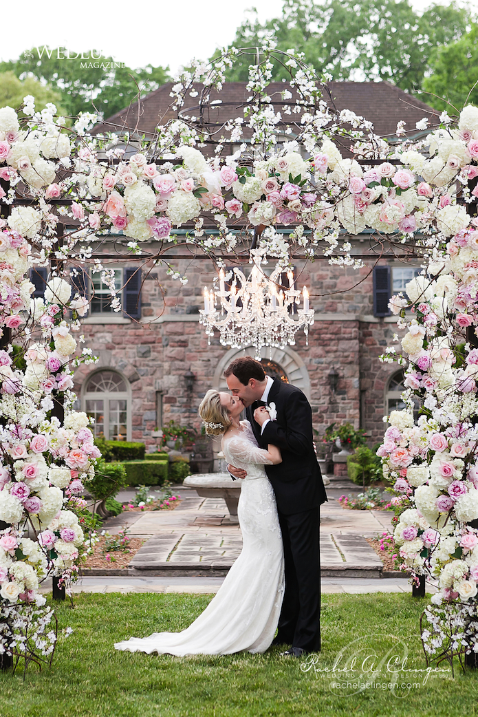 12 gorgeous wedding ceremony decor ideas belle the magazine for Floral wedding decorations ideas