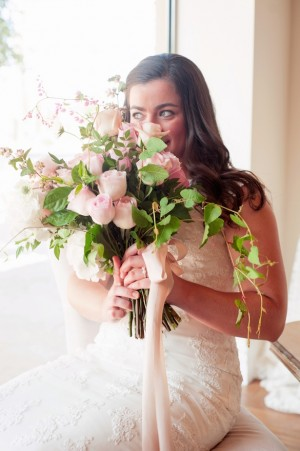 Bridal and bouquet ~ Jill Lauren Photography