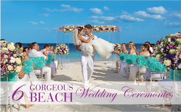 6 Stunning Beach Wedding Ceremonies