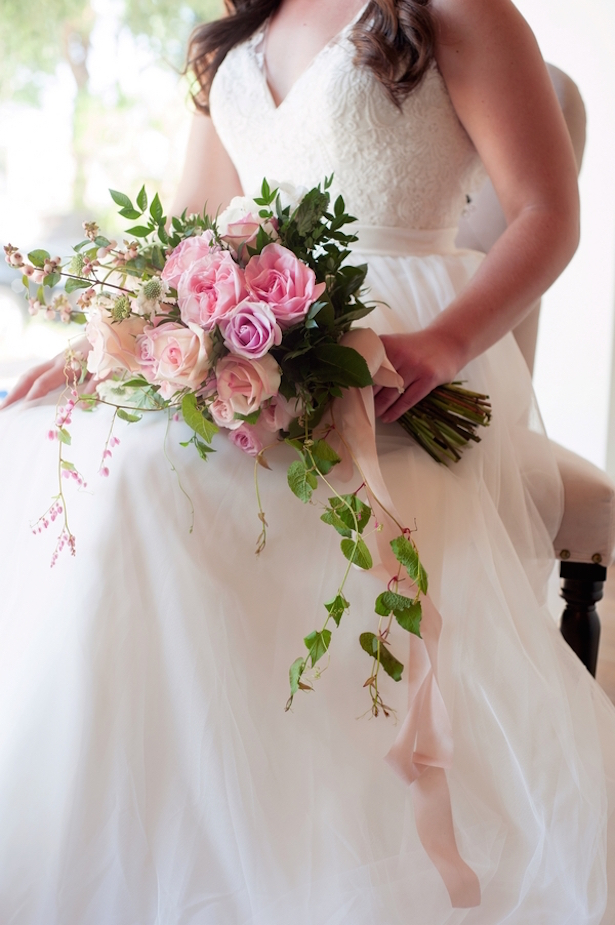 Pink Wedding Bouquet ~ Jill Lauren Photography