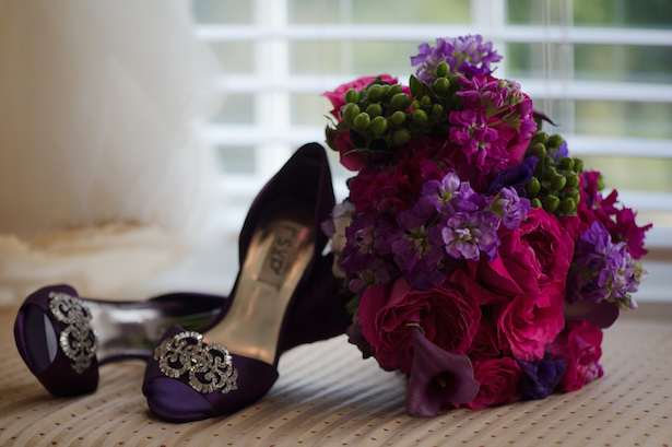 Purple Shoes and Bouquet  ~ Blackbird Photography LLC