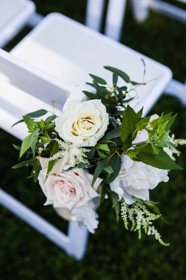 Garden Wedding Ceremony Flowers