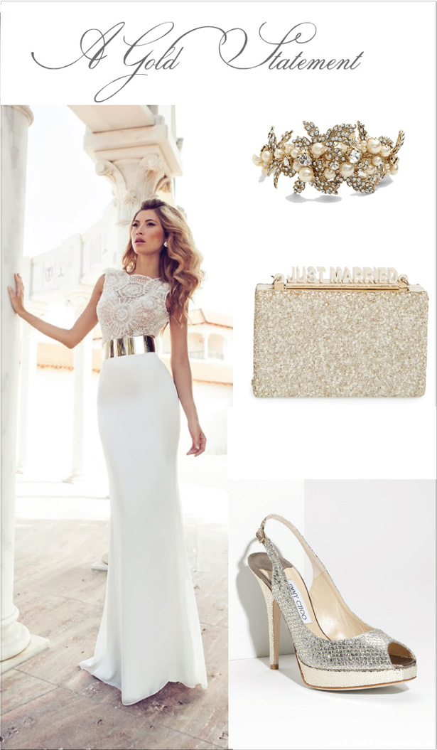 Wedding Day Look: A Gold Statement