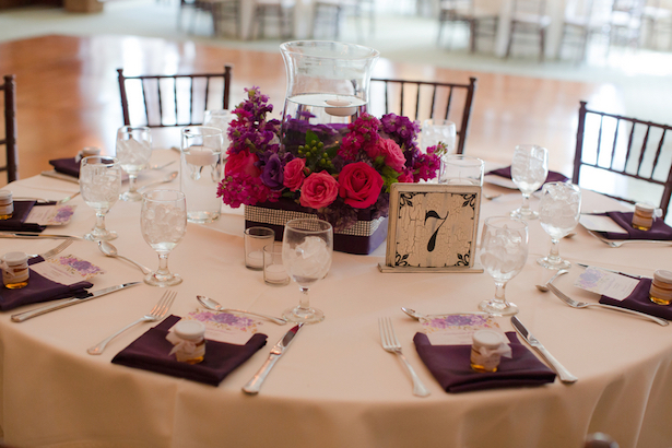 Purple Wedding Table Decor ~ Blackbird Photography LLC