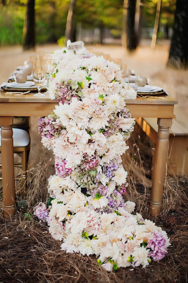 Wedding Trends : Table Garlands