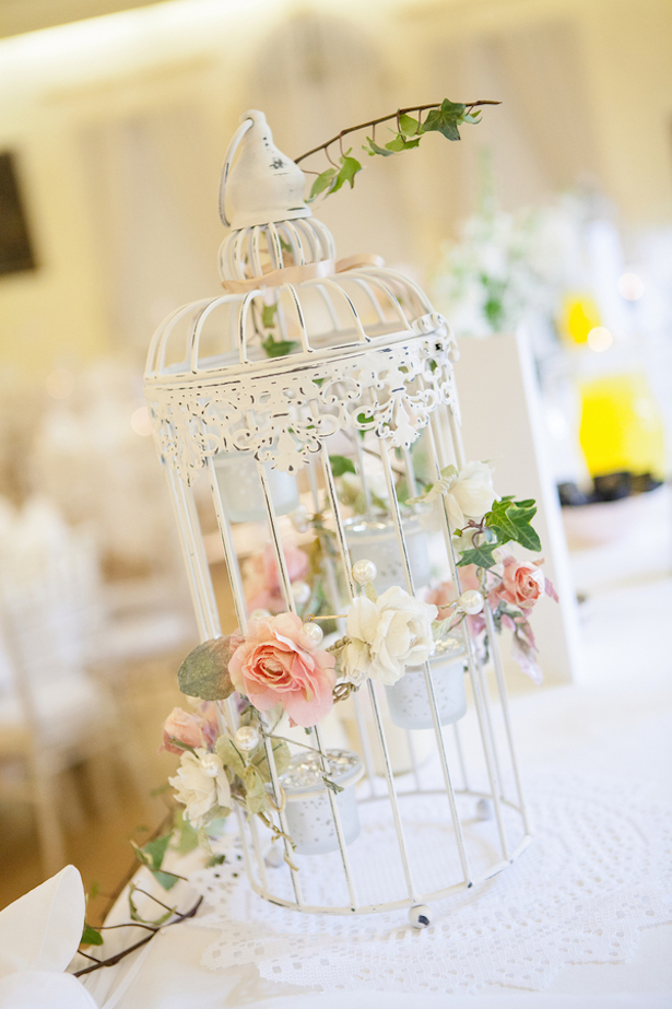 Birdcage Wedding Centerpiece ~ Steven Hanna Photography