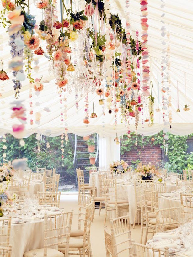 Hanging Flowers Wedding Decor -Photography: Jasmine Jade