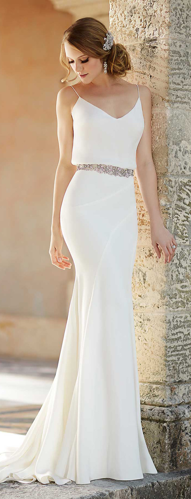 Simple Wedding Dress Boutique : Martina liana spring bridal collection belle the