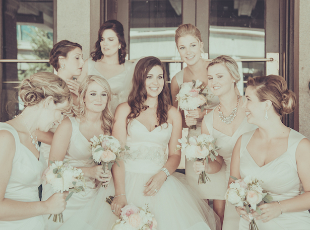Neutral Bridesmaid Dresses ~ Pabst Photo