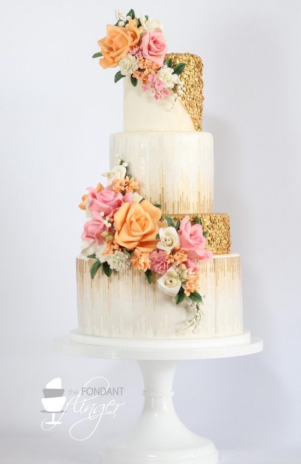 #WeddingTrends : Sequin Cake