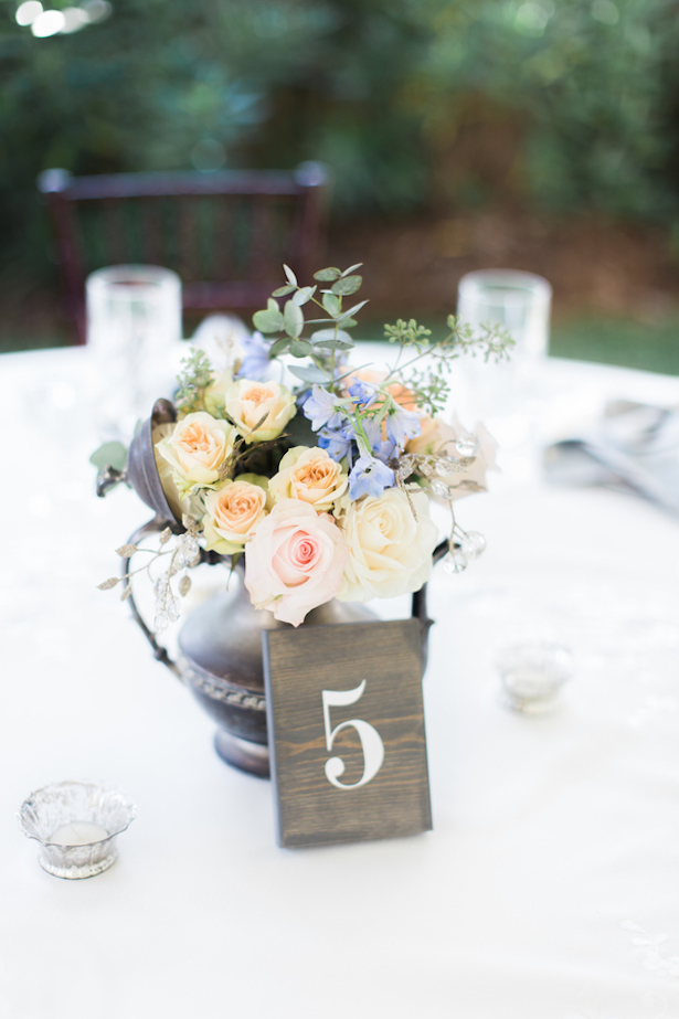 Vintage Wedding Centerpiece and Wood Table Number  ~ Keepsake Memories Photography