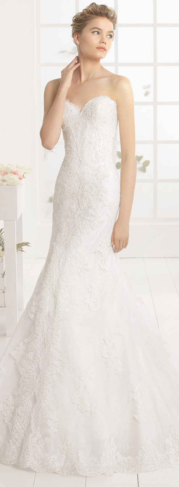 Wedding Dresses For Brides Over 50 51 Fabulous  Aire Barcelona Wedding
