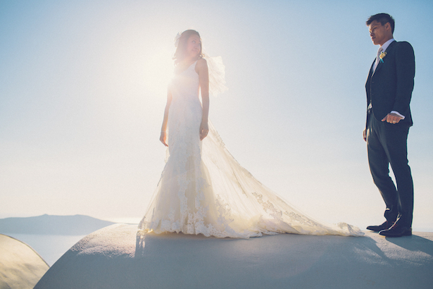 Island Bliss : Santorini Destination Wedding