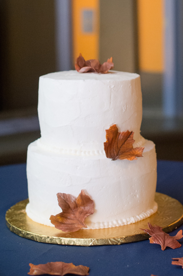 autumn fall wedding cake