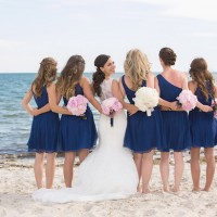 Blues bridesmaid dresses - Nicole Lopez Photography