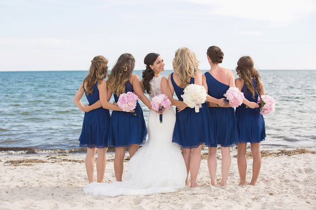 Blue Bridesmaid Dresses - Nicole Lopez Photography