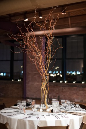 Branches Wedding Centerpiece - Ben Elsass Photography