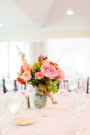Colorful Wedding Centerpiece  - Kirsten Smith Photography
