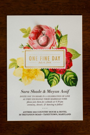 Floral Wedding Invitation - Kirsten Smith Photography