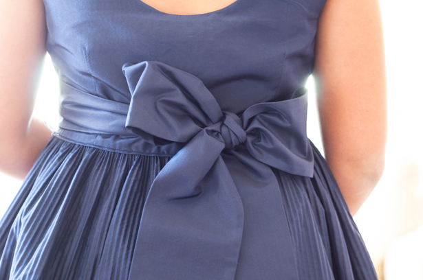 Flower Girl Navy Blue Dress