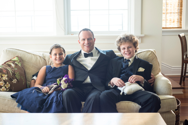 Groom and kids - Blueflash Photography