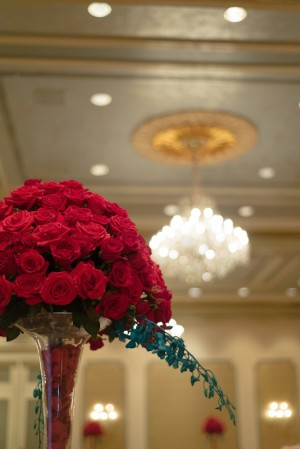 Red Roses Wedding Ceremony Decor