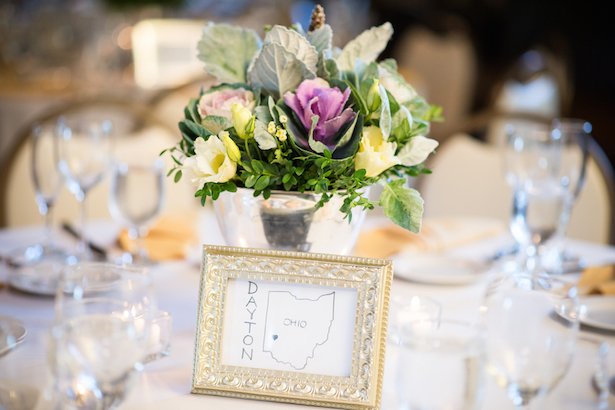 Wedding Tables marked by cities