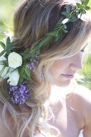 Wedding Hair with Natural Flowers