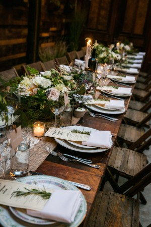 Long Wedding Table - Kelly Williams Photography