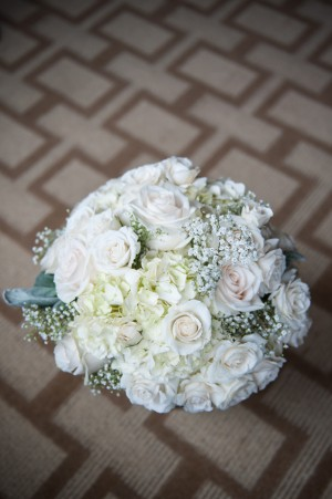 White Wedding Bouquet - Ben Elsass Photography