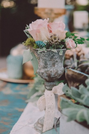 Blue Dessert Wedding Inspiration - Cristina Navarro Photography, Fiori The Flower Studio #BTMVendor