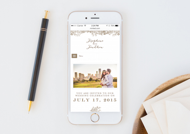 New Wedding Websites by Minted + $500 Giveaway