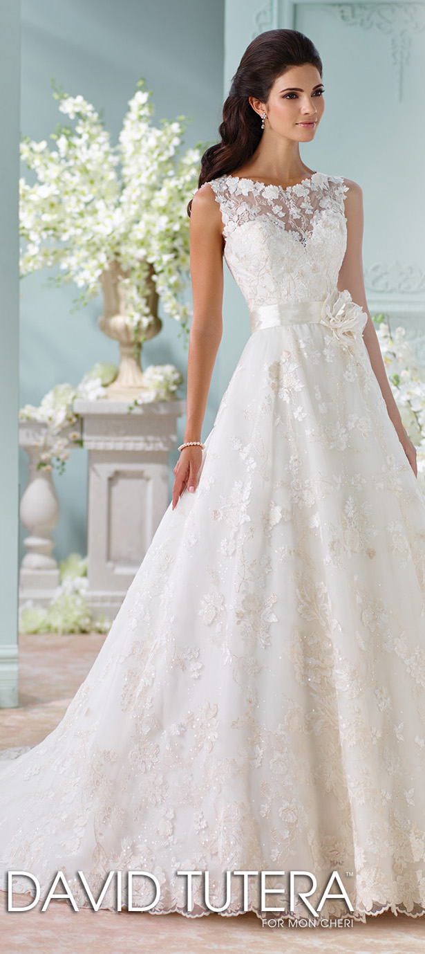 David Tutera For Mon Cheri Fall 2015 Bridal Collection
