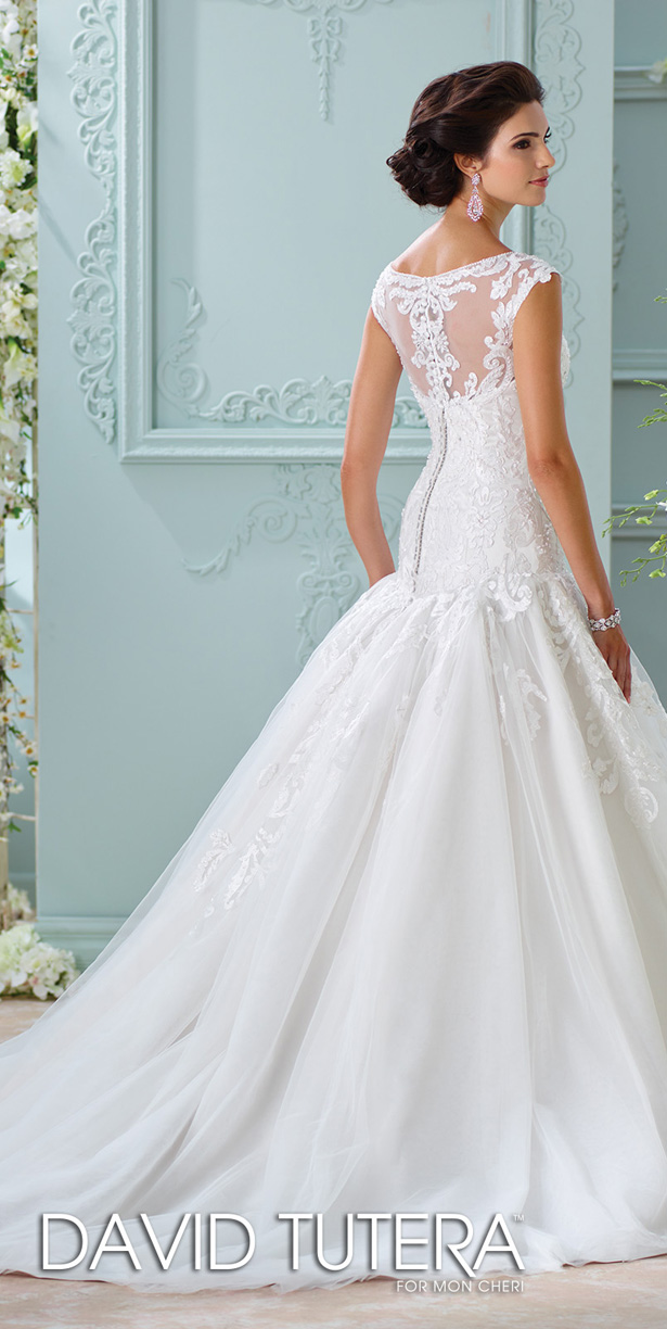 David tutera for mon cheri spring 2016 wedding dress for Mon cheri wedding dresses 2016