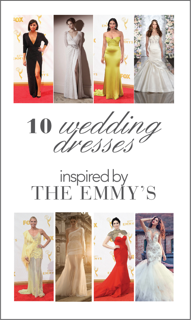 10 Wedding Dresses Inspired by The Emmy's 2015