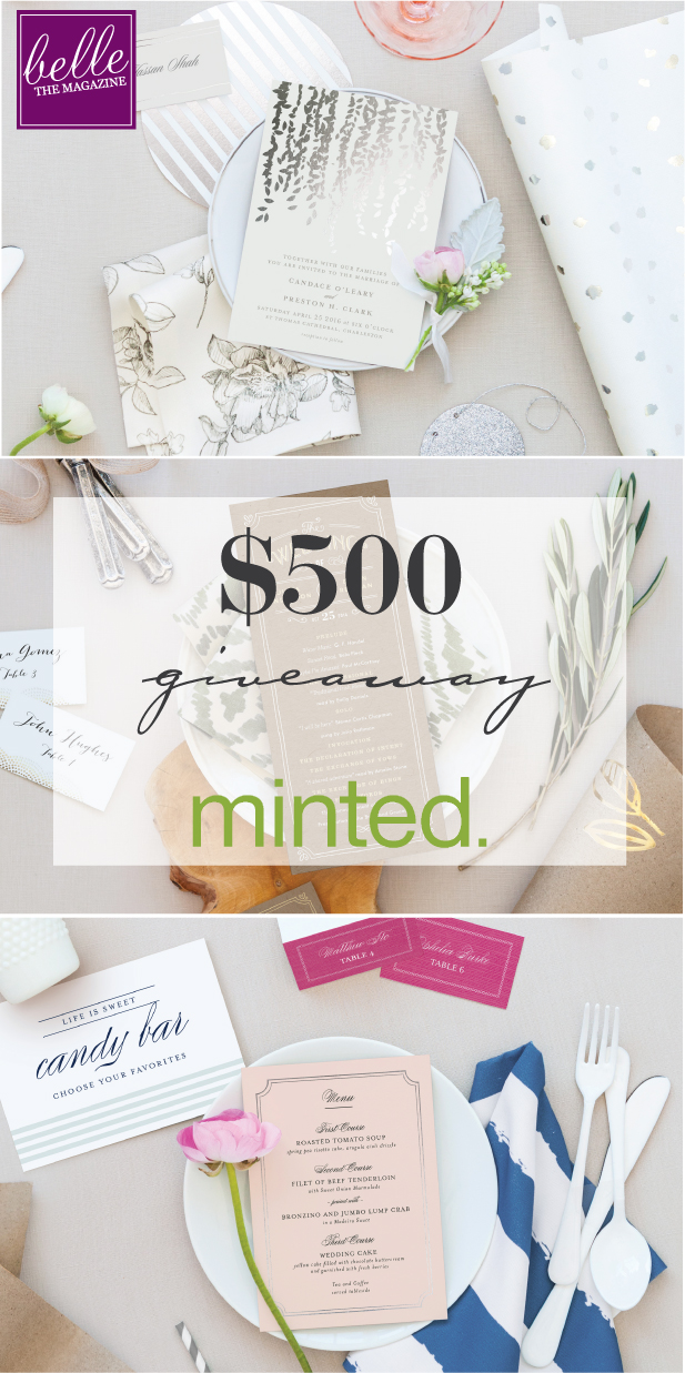 6 Days of Giveaways – Day 1: Win $500 in Wedding Products by Minted