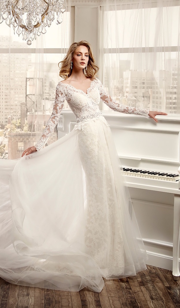 Bridal Trends: Wedding Dresses with Detachable Skirts - Belle The ...