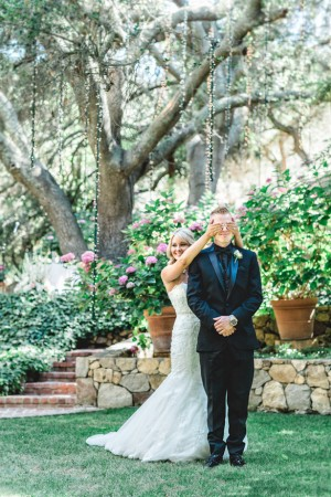 Wedding first look -Michael Anthony Photography