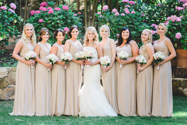 Neutral Bridesmaid dresses - Michael Anthony Photography