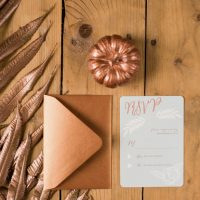 Fall Wedding Invitation - Rachel Peters Photography