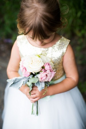 Flower Girl - Mint and Gold Sequins #Wedding - Caroline Ross Photography