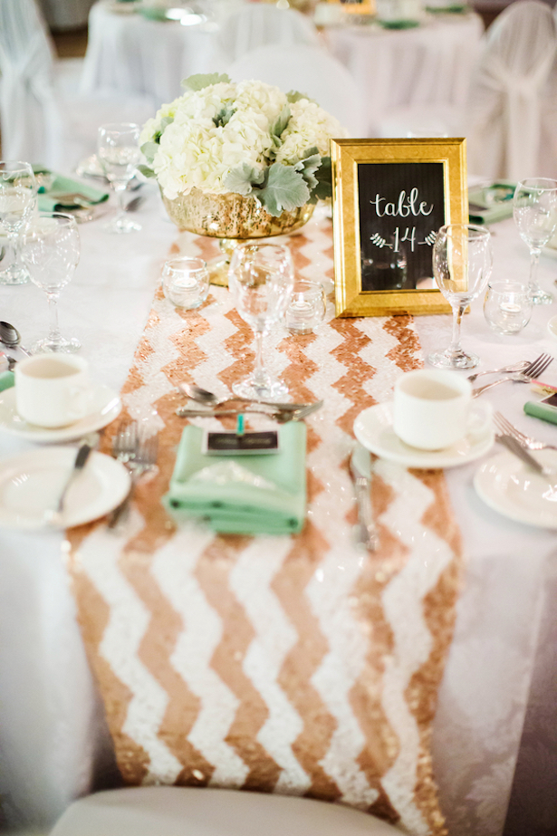 Mint And Gold Sequins Wedding Caroline Ross Photography