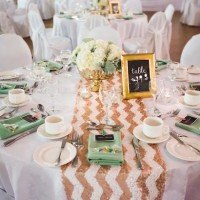 Mint and Gold Wedding - Belle The Magazine