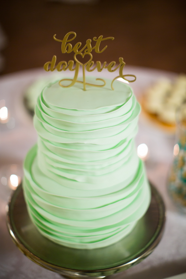 mint green and gold wedding cake mint and gold wedding the magazine 17443