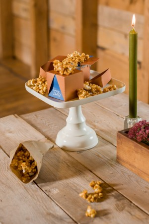 Popcorn bar: Fall Wedding Inspiration - Rachel Peters Photography