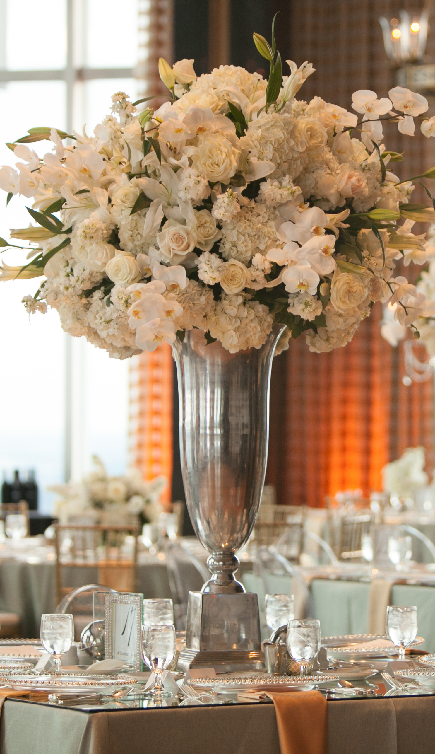 Tall Wedding Centerpiece - Occasio Productions #BTMVendor