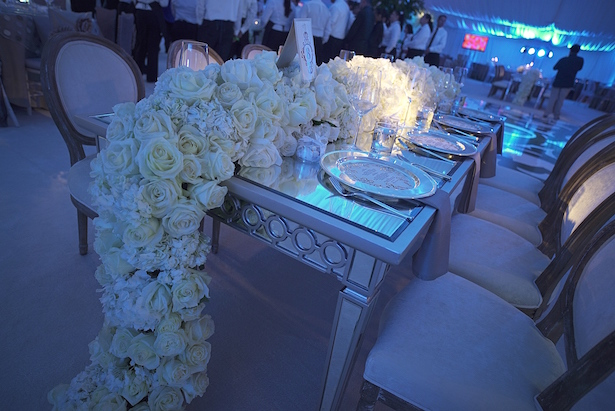 Floral Garland Wedding Centerpiece - Occasio Productions #BTMVendor and Monica Lozano Photography