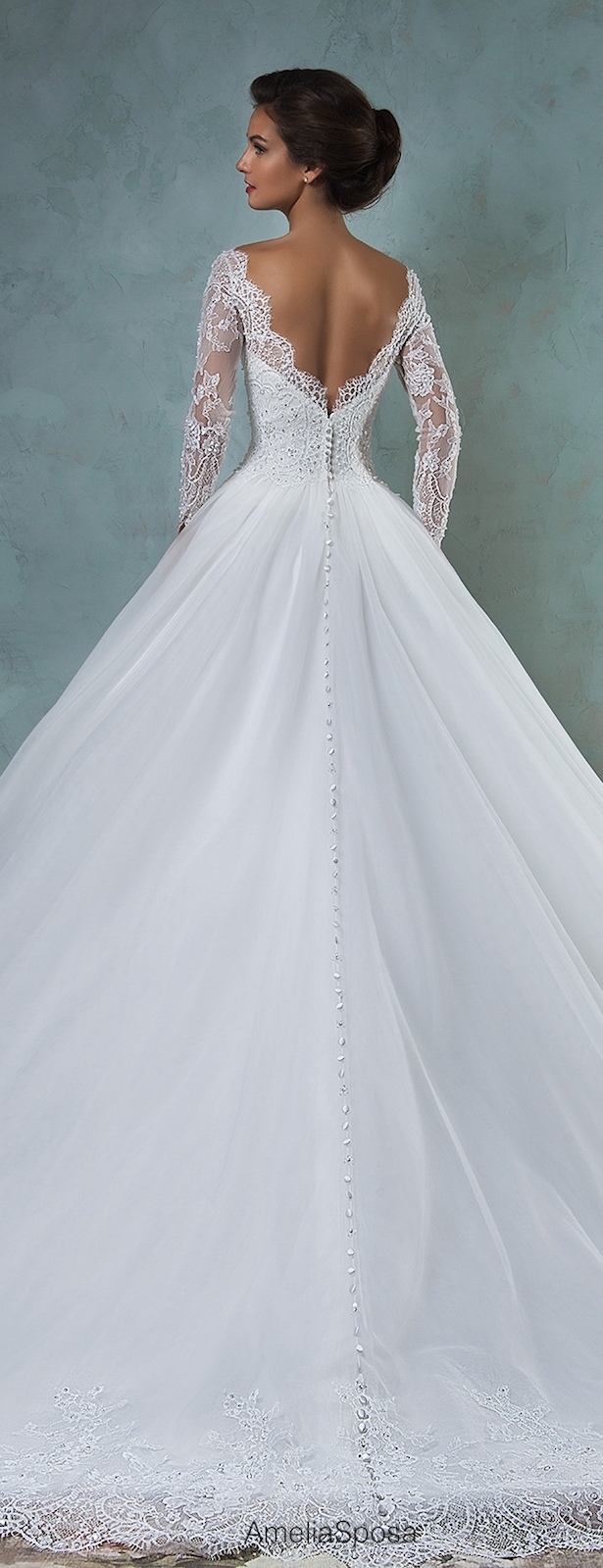 Amelia sposa 2016 wedding dresses part 2 belle the for Belle style wedding dress