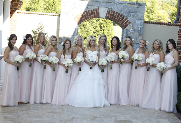 Blush Bridesmaid Dresses - Keith Cephus Photography